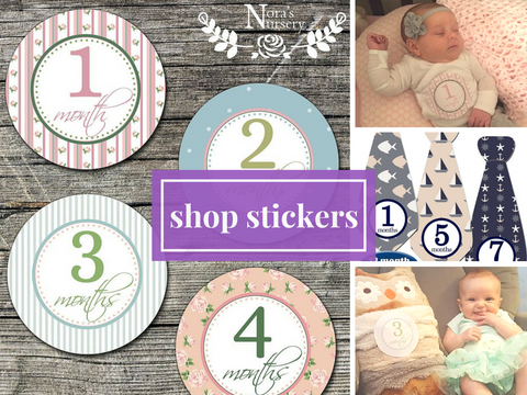 Milestone Stickers for Baby 1 month, 2 month, Nora's Nursery