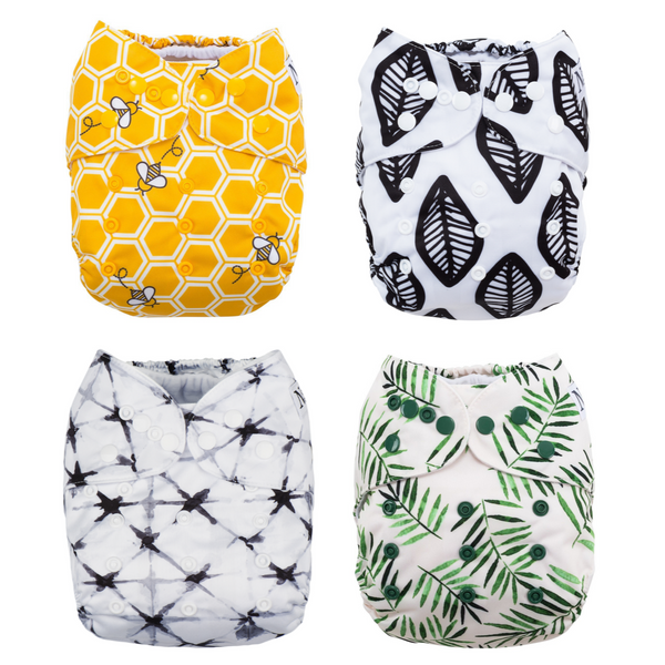 Nora's Nursery Fan Favorite's 4 pack of cloth diapers