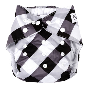Nora's Nursery Gingham single cloth diaper