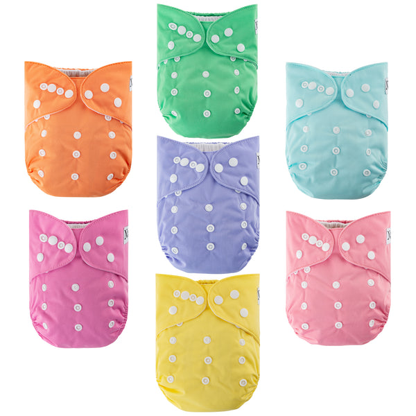 Over The Rainbow Cloth Diapers 7 Pack
