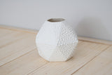 Geometric Short Bud Vase White Crawl - Clarke Collective - 2