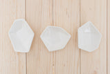 Small Geometric Ring Dish - Set - White - Clarke Collective - 2
