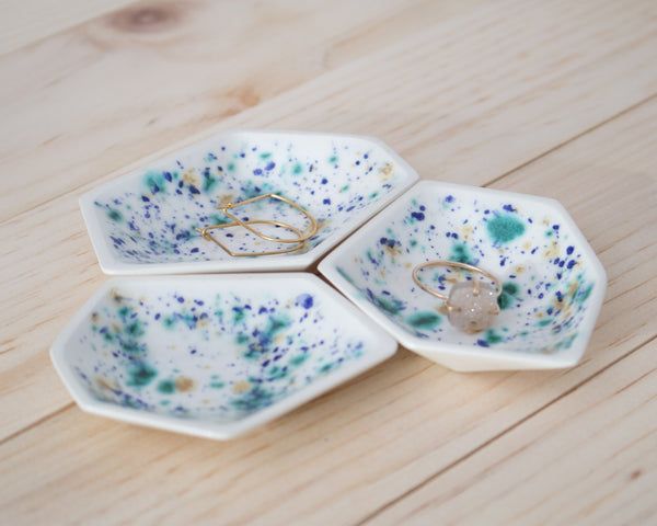 Small Geometric Ring Dish - Set - Seawind - Clarke Collective - 1