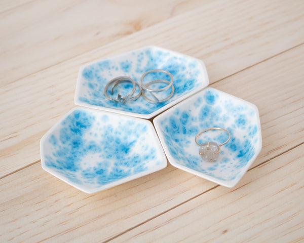 Small Geometric Ring Dish - Set - Enamelware - Clarke Collective - 1