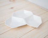 Large Geometric Ring Dish - Set - White - Clarke Collective - 2