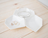 Large Geometric Ring Dish - Set - White - Clarke Collective - 1
