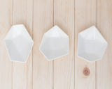 Large Geometric Ring Dish - Set - White - Clarke Collective - 3