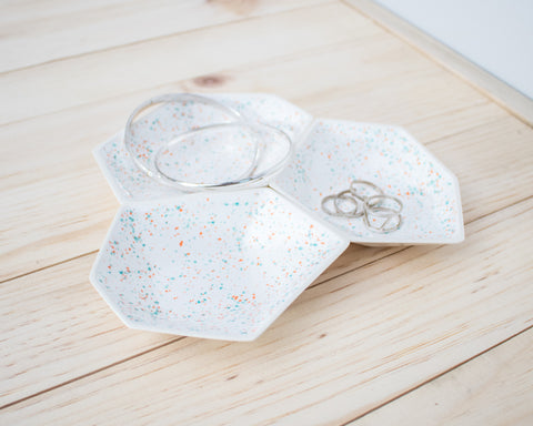 Large Geometric Ring Dish - Set - Sprinkles