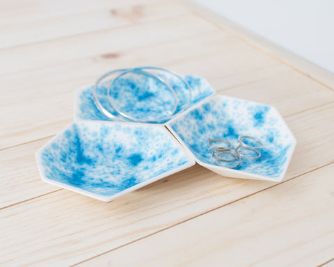 Large Geometric Ring Dish - Set - Enamelware
