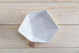 Large Geometric Ring Dish - Individual - White Crawl - Clarke Collective - 2