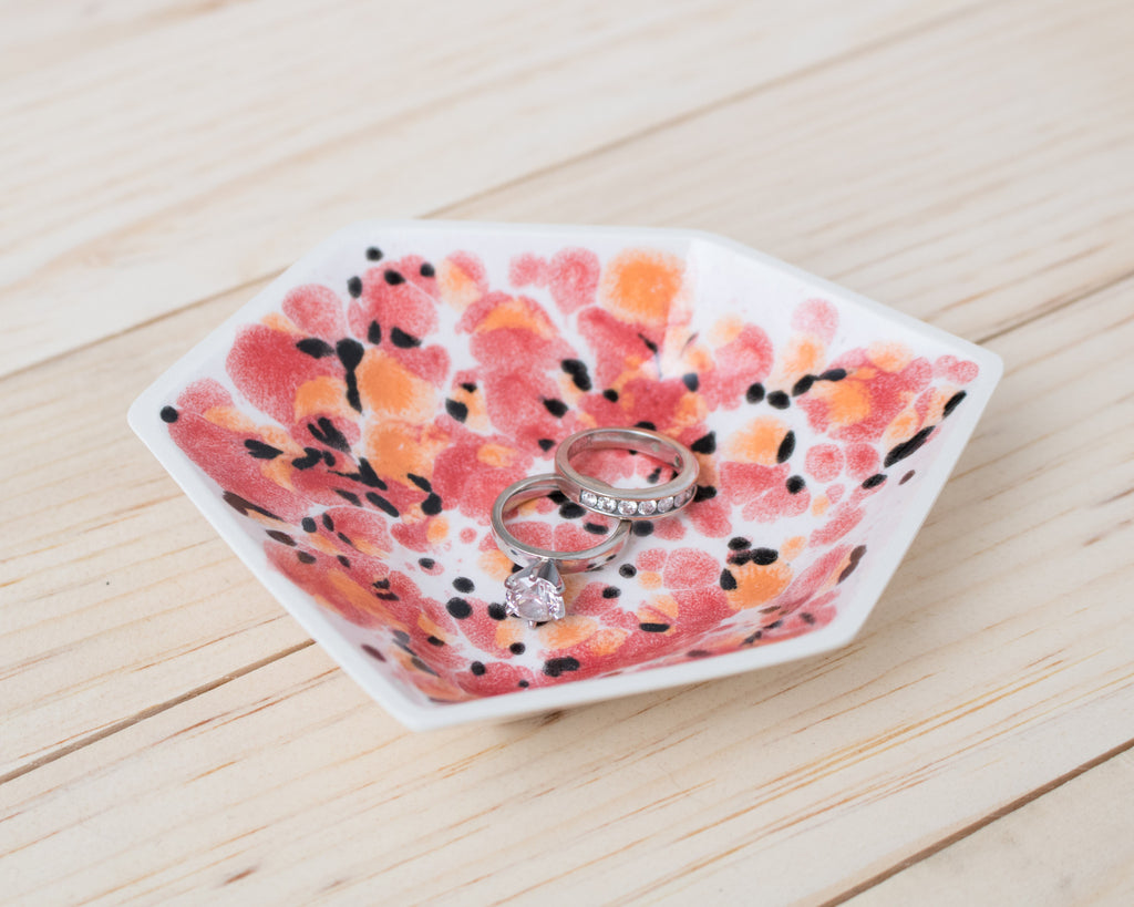 Large Geometric Ring Dish - Individual - Poppy - Clarke Collective - 1