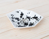 Large Geometric Ring Dish - Individual - Ink Spots - Clarke Collective - 1