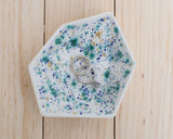 Large Geometric Ring Dish - Individual - Seawind - Clarke Collective - 3
