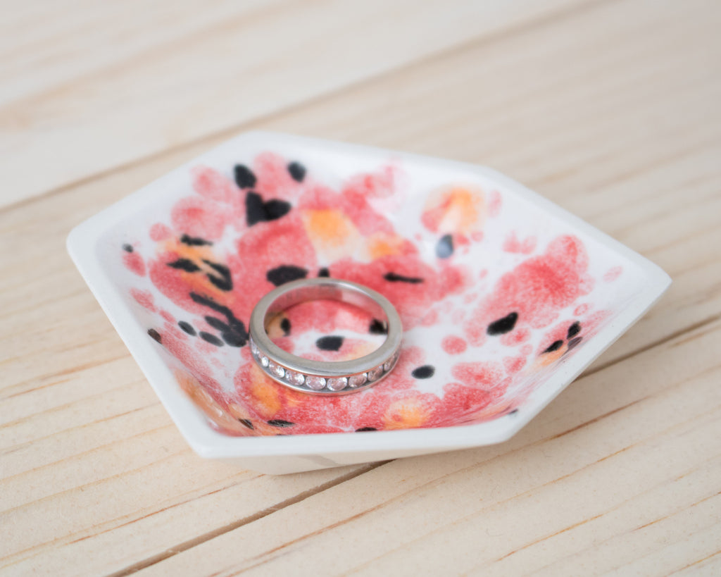 Small Geometric Ring Dish - Individual - Poppy - Clarke Collective - 1