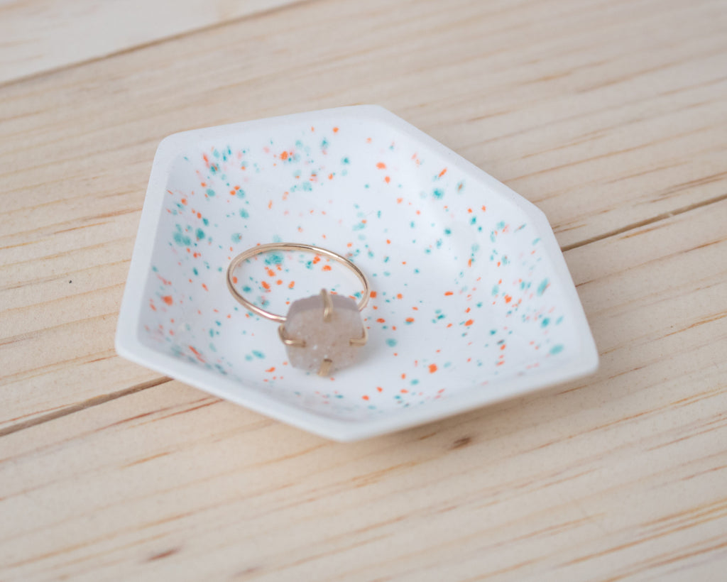 Small Geometric Ring Dish - Individual - Sprinkles - Clarke Collective - 1
