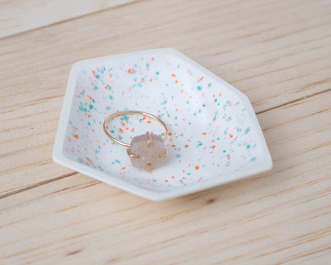 Small Geometric Ring Dish - Individual - Sprinkles