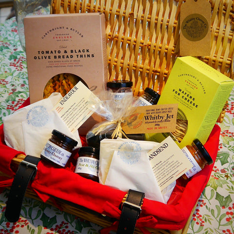 Whitby Cheese Traditional Wicker Hamper