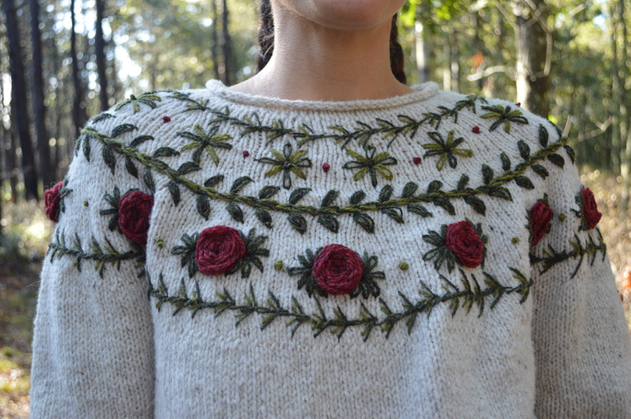 Boho Wreath Sweater