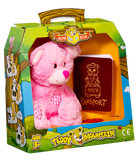 Bear In A Box by Teddy Mountain - Pink Patches Bear