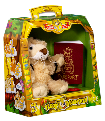 Bear In A Box by Teddy Mountain - Spots the Leopard