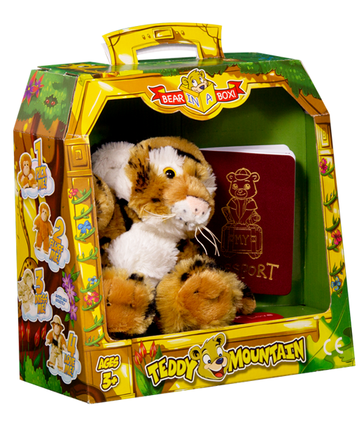 Bear In A Box by Teddy Mountain - Bennie the Bengal Tiger