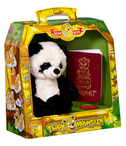 Bear In A Box by Teddy Mountain - Bamboo the Panda