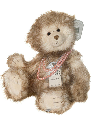 Silver Tag 3 Jessica Bear  Collectible Limited Edition Teddy from Suki
