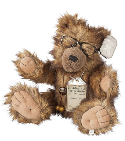 Silver Tag 3 Harvey Bear  Collectible Limited Edition Teddy from Suki