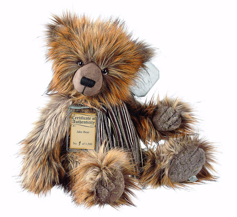 Silver Tag 4 Jake Bear Collectible Limited Edition Teddy from Suki