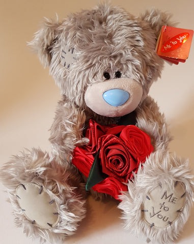 Me To You Tatty Teddy 26cm Bear holding Bunch of Roses