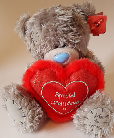 Me To You Tatty Teddy 26cm Special Girlfriend Bear holding Red Heart