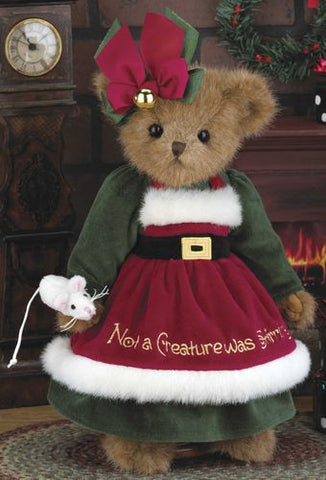 Bearington Xmas Teddy Christy Chrismouse
