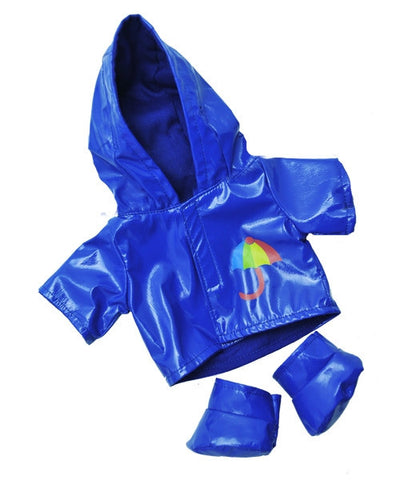 "Teddy Mountain - Outfit - Blue Raincoat with Boots (8"")(R)"