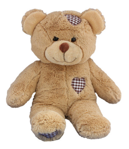 "Teddy Mountain - Bear - Brown Patches Heart Beat Bear (16"")"