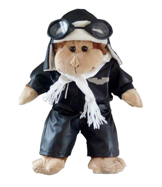 "Teddy Mountain - Outfit - Aviator ""Wings"" Outfit with Helmet & Goggles (16"")"