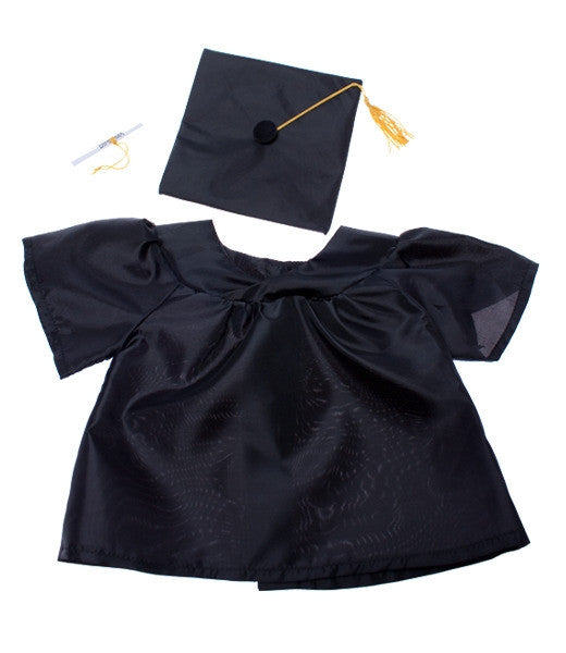 "Teddy Mountain - Outfit - Graduation Gown (16"")"