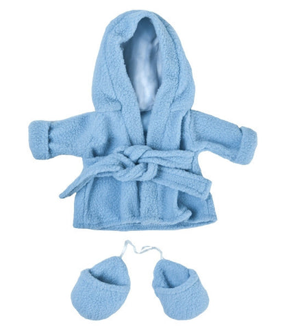 "Teddy Mountain - Outfit - Blue Bathrobe with Slippers (8"")(R)"