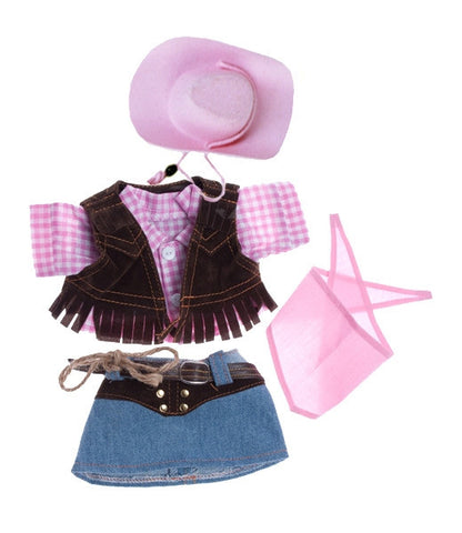 "Teddy Mountain - Outfit - Cowgirl with Pink Cowgirl Hat (8"")"
