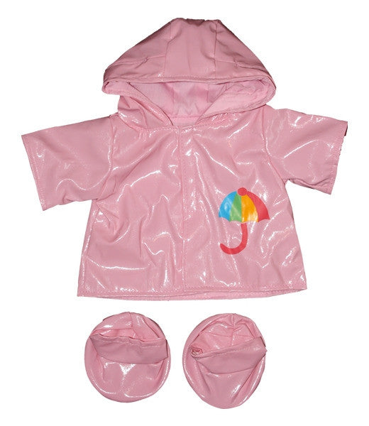 "Teddy Mountain - Outfit - Pink Raincoat with  Boots (16"")"