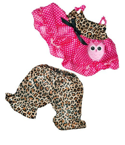 "Teddy Mountain - Outfit - Cute ""Leopard"" Owl Outfit (8"")"