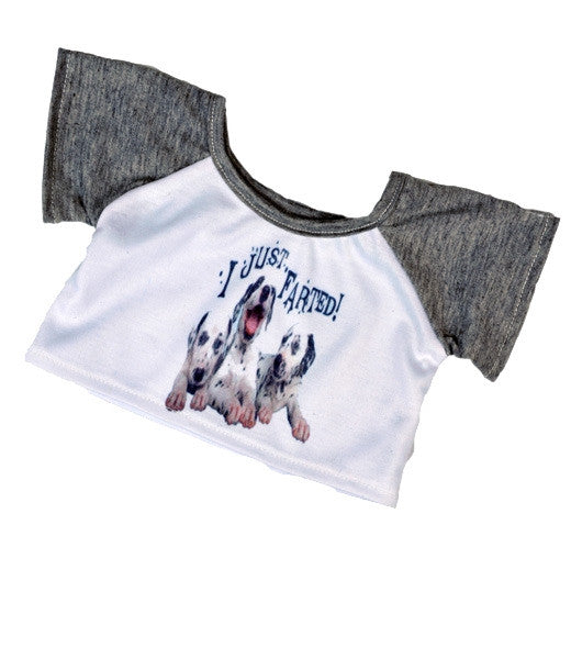 "Teddy Mountain - Outfit - I Just Farted Cute Dog T-Shirt (16"")(R)"