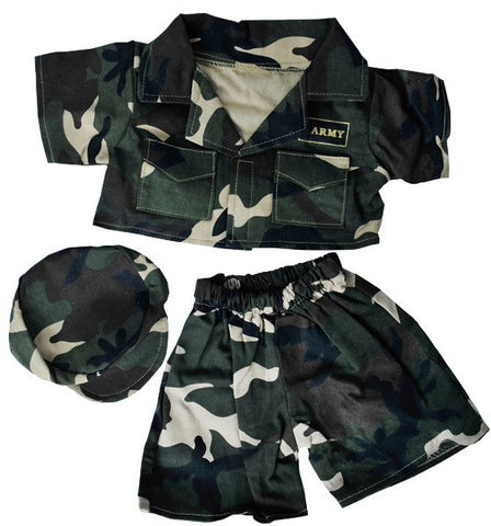 "Teddy Mountain - Outfit - Army ""Green"" Outfit with Cap (16"")"
