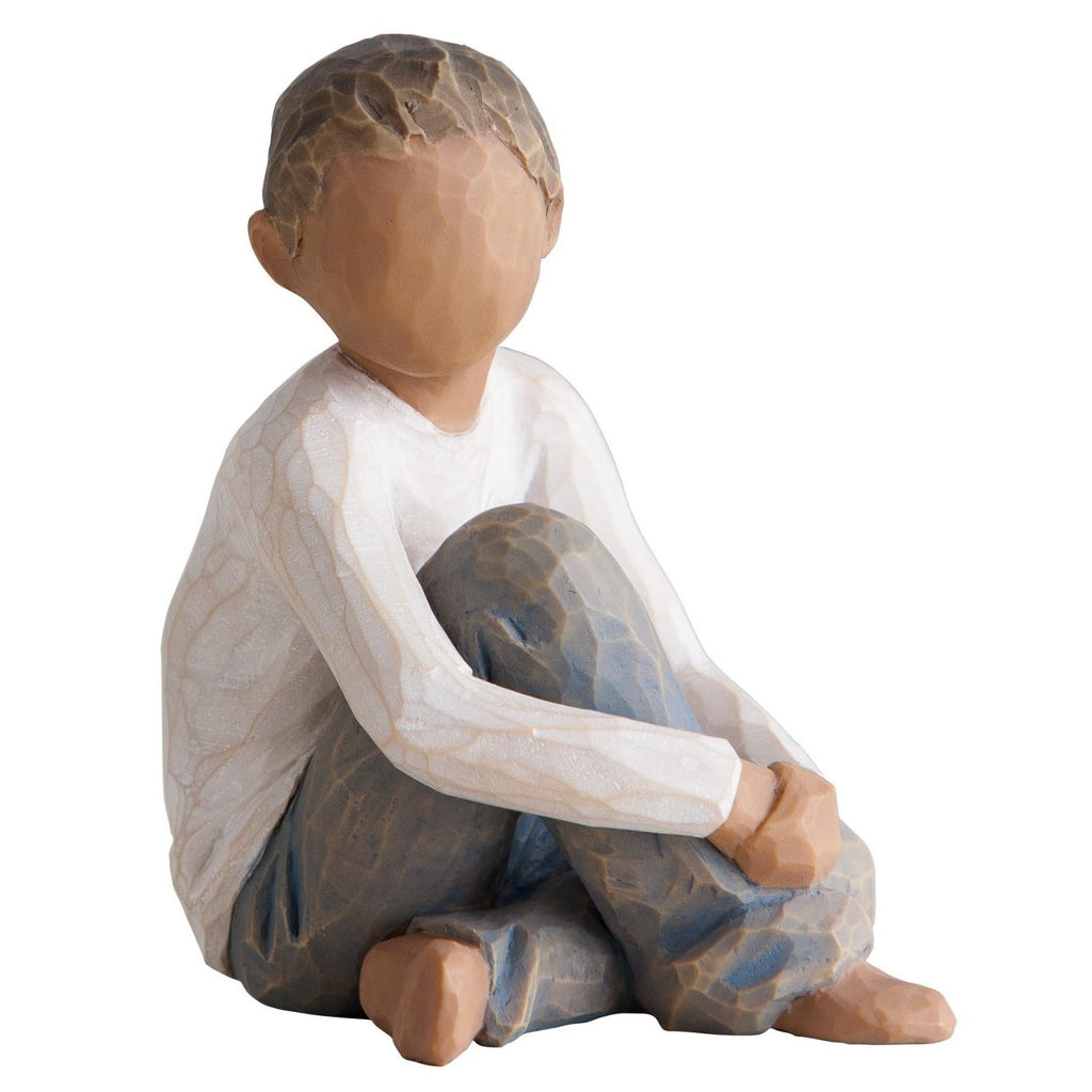 Willow Tree Caring Child Figure in New Skin Tone, Multi-Colour