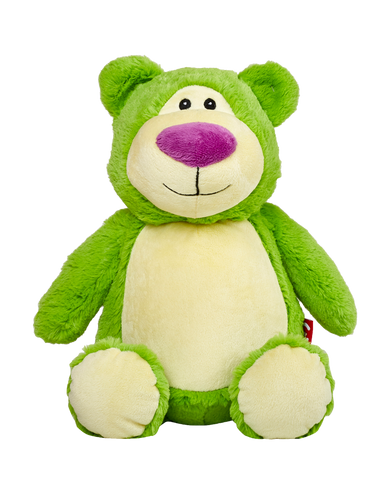 """Cubbyford"" Lime Green Bear"
