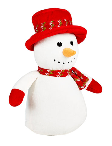 Red Hat Snowman Personalised Christmas Cubby