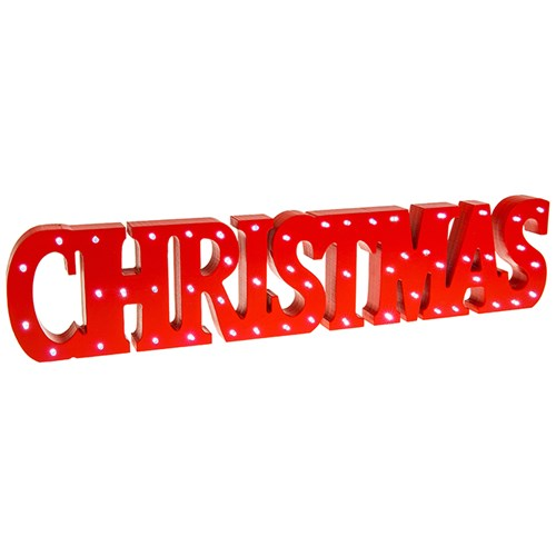 Christmas LED Sign Red