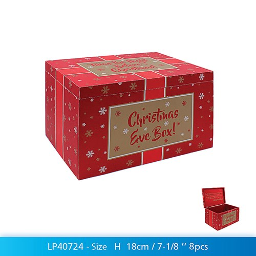 Christmas Eve Box Red White