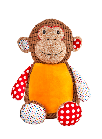 Harlequin Monkey - Brown Cubby