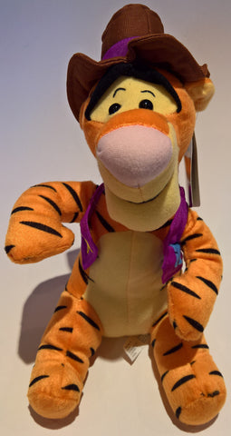 Disney Winnie the Pooh - Tigger Cowboy Plush Soft Toy 25cm
