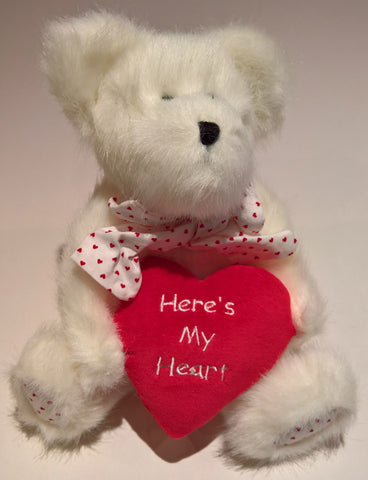 Wuvey U. Bear with Heart - Genuine Boyds Bear Collectible Teddy